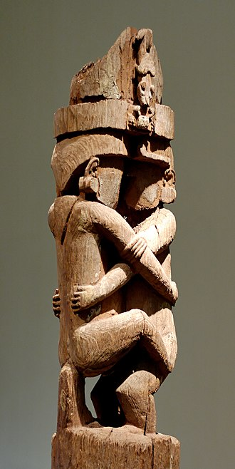 Makira - Pole for a ceremonial house (detail). Wood, Magura village (Makira, Solomon Islands), 17th century