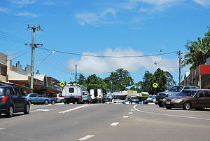 The main street of Maleny, Queensland
