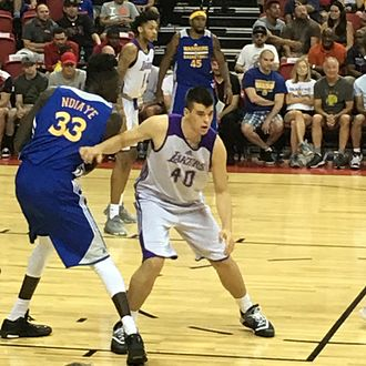Mamadou N'Diaye (basketball, born 1993) - N'Diaye playing for the Golden State Warriors during the 2016 NBA Summer League