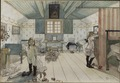 Mamma's and the Small Girls' Room. From A Home (26 watercolours) (Carl Larsson) - Nationalmuseum - 24215.tif