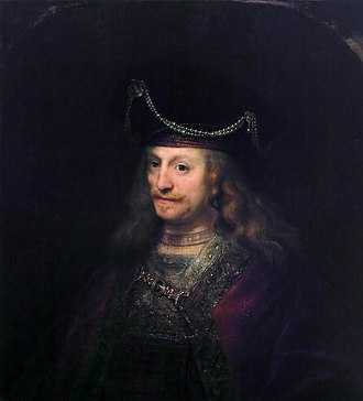 Agnes Etherington Art Centre - Image: Man wearing a high beret with jewels and pearls, by Ferdinand Bol