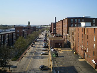 Amoskeag Manufacturing Company - Amoskeag Manufacturing Company, facing north in 2010