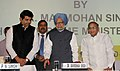 Manmohan Singh dedicating the 2000 km long Dahej-Vijaipur-Bawana-NangalBhatinda Natural Gas pipeline Network to the Nation, at the inauguration of the 7th Asia Gas Partnership Summit (AGPS 2012).jpg