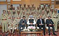 Manmohan Singh with the 64th Batch of IPS Probationers, in New Delhi on December 26, 2012. The National Security Advisor, Shri Shivshankar Menon and the Union Home Secretary, Shri R.K. Singh are also seen (3).jpg