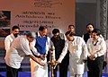 Manohar Parrikar lighting the lamp to inaugurate the 'Bharat Parv', organised by the Government of India as part of the Independence Day celebrations from 12th to 18th August, 2016, at Rajpath Lawns, India Gate, in New Delhi.jpg
