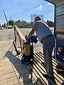 Manually operated cable ferry between Borusowa and Nowy Korczyn, Poland, 2019, 02.jpg