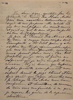 Manuscrit Louis Riel 1