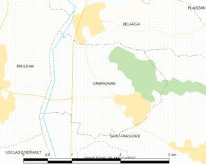 Campagnan - Map