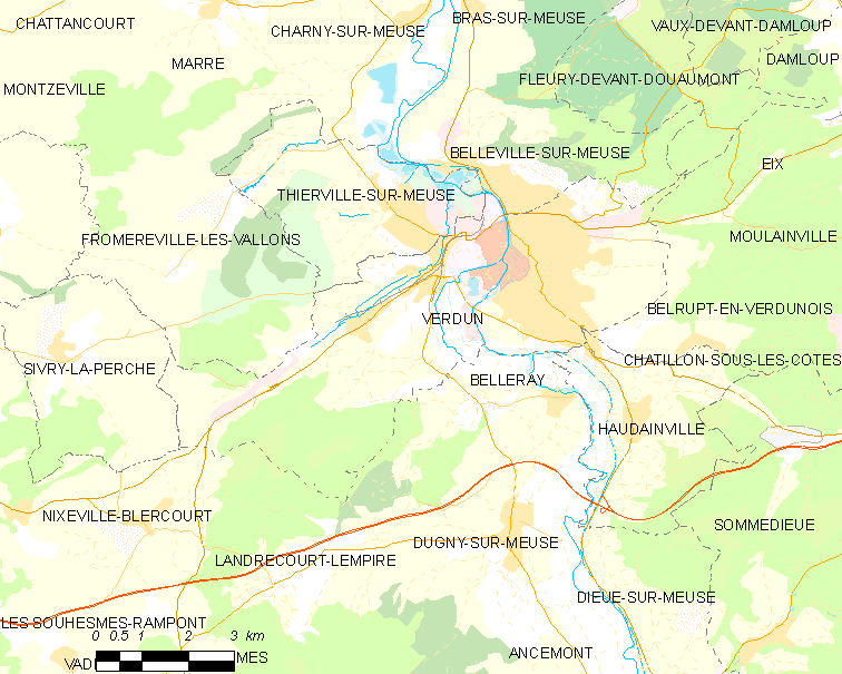 Map commune FR insee code 55545