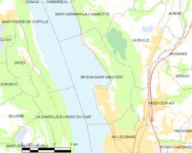 Mapa obce Brison-Saint-Innocent