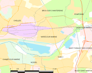 Vaires-sur-Marne - Image: Map commune FR insee code 77479