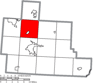 Dover Township, Athens County, Ohio - Image: Map of Athens County Ohio Highlighting Dover Township