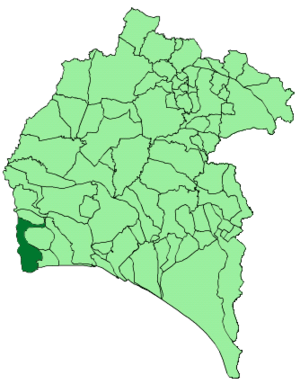 Ayamonte - Image: Map of Ayamonte (Huelva)