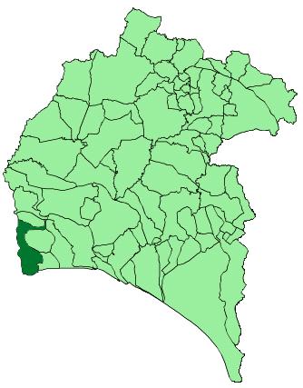Map of Ayamonte (Huelva)