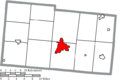 Map of Champaign County Ohio Highlighting Urbana City.png