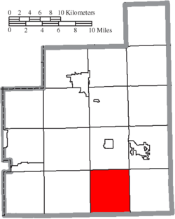 Location of Troy Township in Geauga County