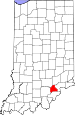 Map of Indiana highlighting Scott County.svg