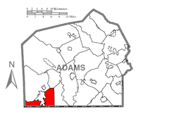 Map of Liberty Township, Adams County, Pennsylvania Highlighted.png