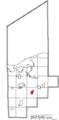 Map of Lorain County Ohio Highlighting LaGrange Village.png
