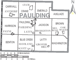 Map of Paulding County Ohio With Municipal and Township Labels.PNG