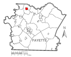 Location of Perryopolis in Fayette County