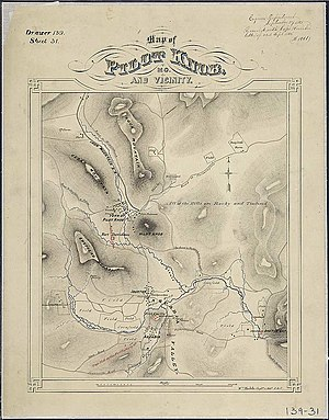 Battle of Fort Davidson - Image: Map of Pilot Knob, Mo., and Vicinity. Wm. Hoelcke, Captn. & Addl. A. de C. NARA 305779