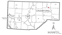 Map of Riceville, Crawford County, Pennsylvania Highlighted.png