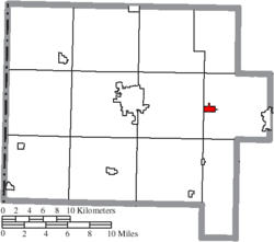 Location of Middle Point in Van Wert County
