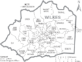 Map of Wilkes County North Carolina With Municipal and Township Labels.PNG