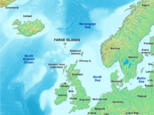 Map of faroe islands in europe - english caption.png