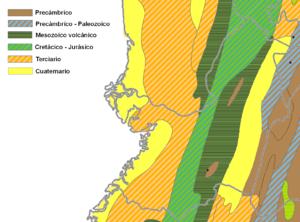 Mapa geológico Valle del Cauca.