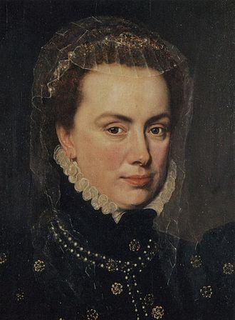 Margaret of Parma - Margaret of Parma by Antonio Moro, circa 1562 (detail)