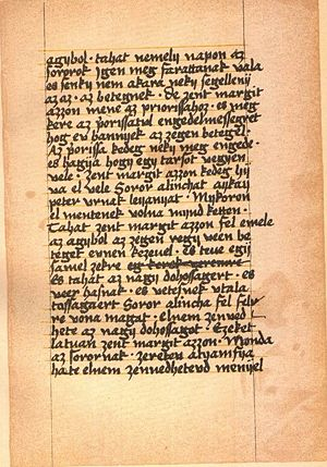 Legend of Saint Margaret - A page of the Margaret Codex