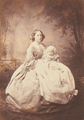 Maria Anna, Princess George of Saxony with her infant daughter Marie, Princess of Saxony (1860).png