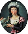 Marie-Victoire Lemoine - Jeune fille tenant une colombe, 1793.jpg