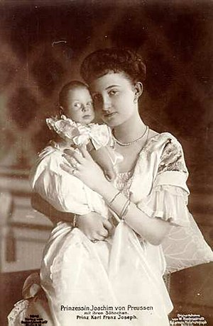 Princess Marie-Auguste of Anhalt - Marie-Auguste with her son.