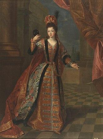 Marie Louise Élisabeth d'Orléans - Portrait by Pierre Gobert, 1718.