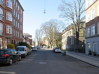 Mariendalsvej street in Frederiksberg Municipality, Denmark