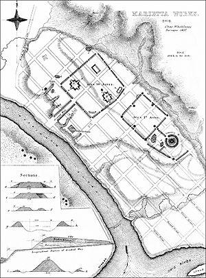 Mound Cemetery (Marietta, Ohio) - Survey of Marietta Earthworks, 1838
