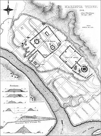Marietta, Ohio - 1837 Survey of Marietta Earthworks