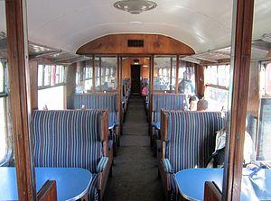Tourist Standard Open - Interior of a Mark 1 TSO, Avon Valley Railway
