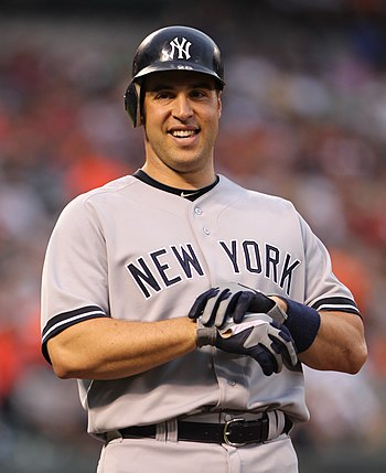 Mark Teixeira on the basepaths during a game b...