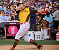 Mark Trumbo competes in semifinals of '16 T-Mobile -HRDerby. (27954729813).jpg