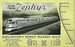 Shottenkirk Mount Pleasant Iowa >> Mark Twain Zephyr - Wikipedia
