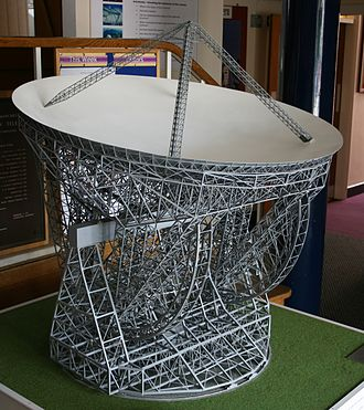 Jodrell Bank Observatory - A model of the proposed Mark V radio telescope