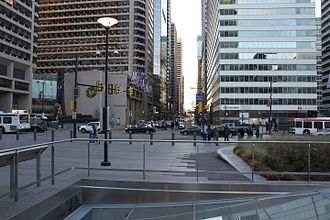 Market Street (Philadelphia) - Market Street in 2014, looking west from City Hall at 15th St.