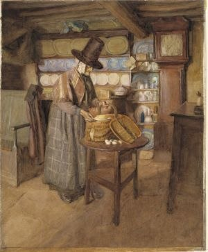 Salem (Vosper painting) - Market Day in Old Wales (1910) a later Vosper painting also featuring Siân Owen