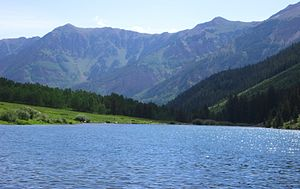 Elk Mountains (Colorado) - Maroon Lake, Elk Mountains.