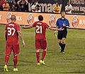 Martin Skrtel and Lucas Leiva Liverpool FC v-s Roma @ Fenway Park.jpg