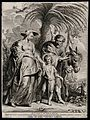 Mary, pregnant with James, and Joseph voyage back from Egypt Wellcome V0034674.jpg